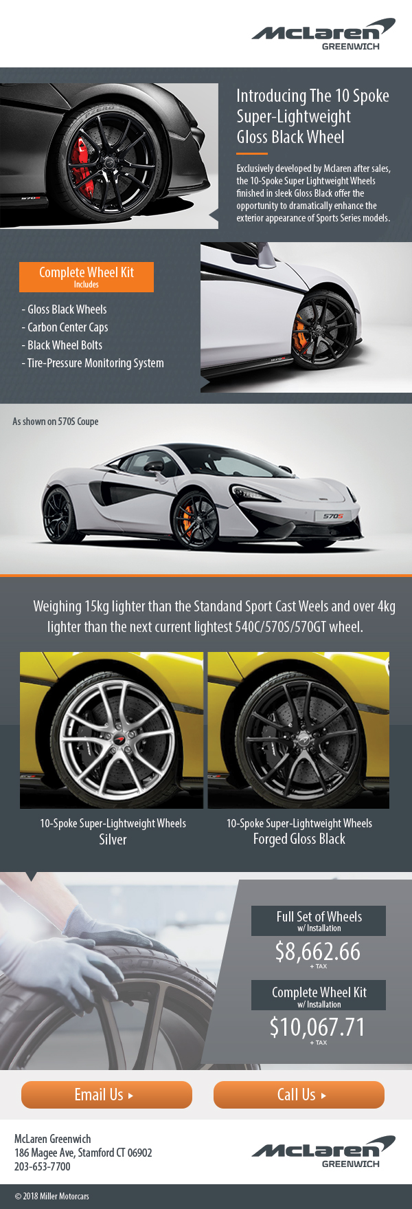 McLaren 10 Spoke Super-Lightweight Glass Black Wheel