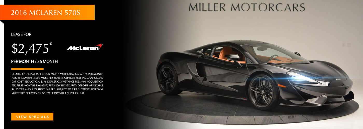 2016 McLaren 570 S Lease Special