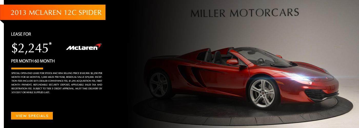 2017 McLaren 570GT Lease Special