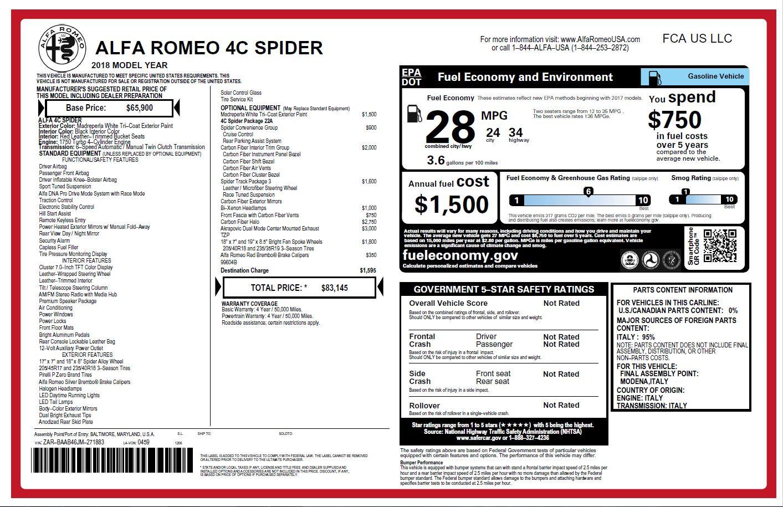 New 2018 Alfa Romeo 4C Spider | Greenwich, CT