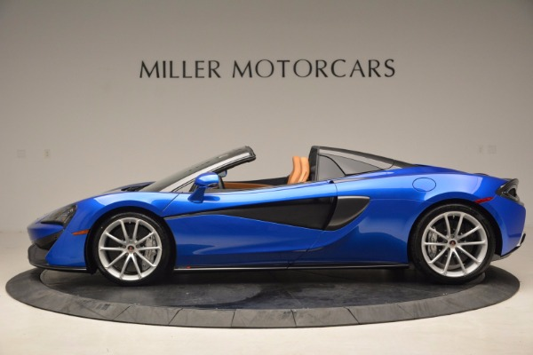 Used 2018 McLaren 570S Spider for sale Call for price at McLaren Greenwich in Greenwich CT 06830 3