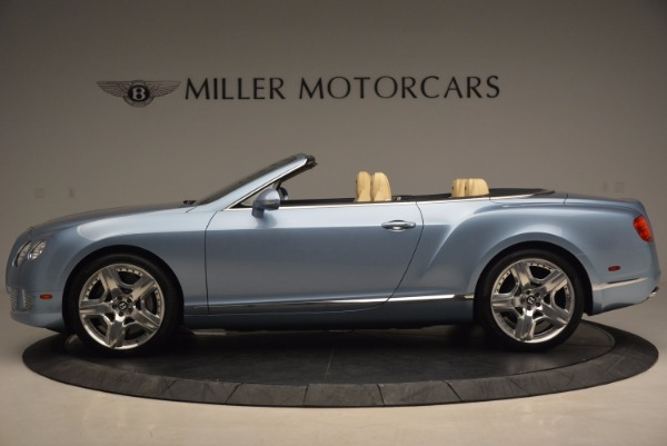Used 2012 Bentley Continental GTC W12 for sale Sold at McLaren Greenwich in Greenwich CT 06830 3