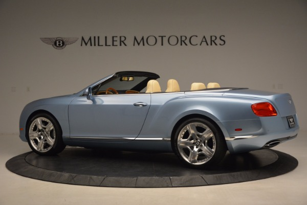 Used 2012 Bentley Continental GTC W12 for sale Sold at McLaren Greenwich in Greenwich CT 06830 4