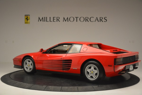 Used 1990 Ferrari Testarossa for sale Sold at McLaren Greenwich in Greenwich CT 06830 4