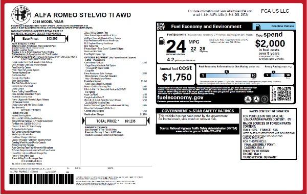 New 2018 Alfa Romeo Stelvio Ti Q4 for sale Sold at McLaren Greenwich in Greenwich CT 06830 2