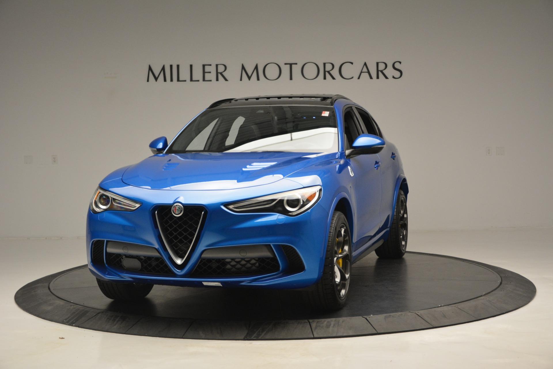 New 2019 Alfa Romeo Stelvio Quadrifoglio for sale $86,790 at McLaren Greenwich in Greenwich CT 06830 1