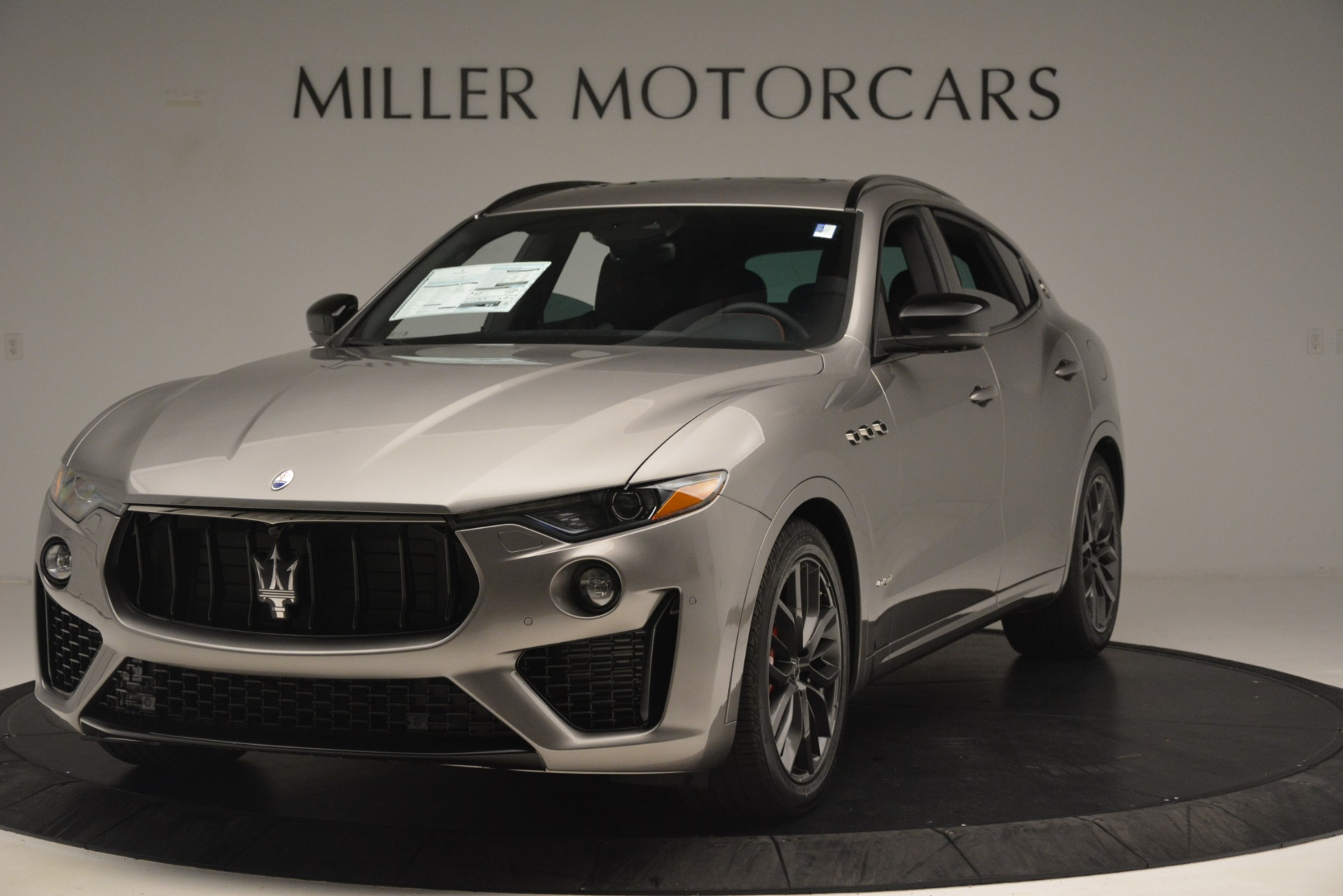 New 2019 Maserati Levante SQ4 GranSport Nerissimo for sale Sold at McLaren Greenwich in Greenwich CT 06830 1