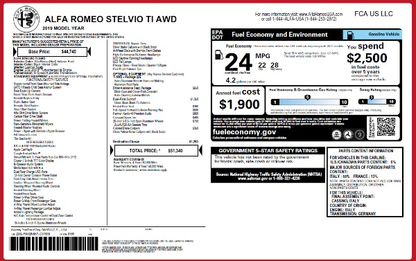 New 2019 Alfa Romeo Stelvio Ti Q4 for sale Sold at McLaren Greenwich in Greenwich CT 06830 2