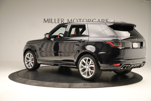 Used 2019 Land Rover Range Rover Sport SVR for sale Sold at McLaren Greenwich in Greenwich CT 06830 4