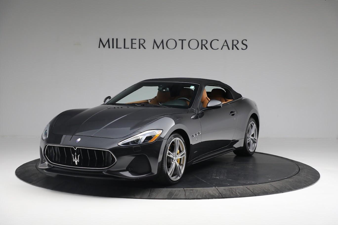 New 2019 Maserati GranTurismo Sport Convertible for sale $164,075 at McLaren Greenwich in Greenwich CT 06830 1