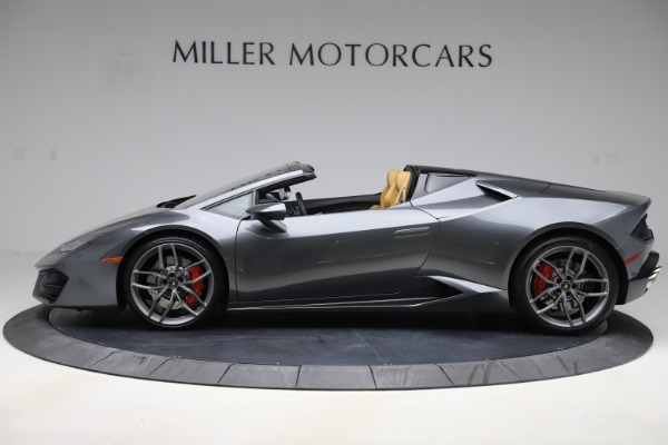 Used 2018 Lamborghini Huracan LP 580-2 Spyder for sale Sold at McLaren Greenwich in Greenwich CT 06830 3