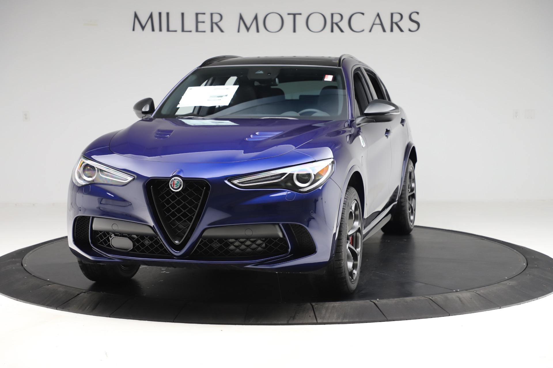 New 2020 Alfa Romeo Stelvio Quadrifoglio for sale $88,390 at McLaren Greenwich in Greenwich CT 06830 1