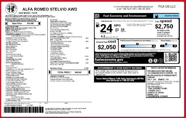 New 2020 Alfa Romeo Stelvio Q4 for sale Sold at McLaren Greenwich in Greenwich CT 06830 2