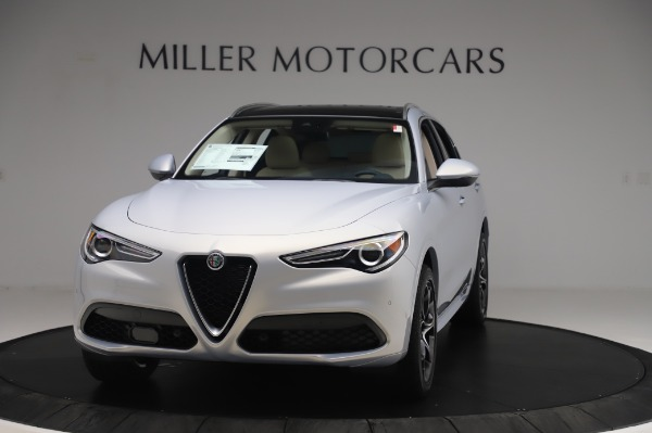 New 2020 Alfa Romeo Stelvio Ti Lusso Q4 for sale $55,045 at McLaren Greenwich in Greenwich CT 06830 1