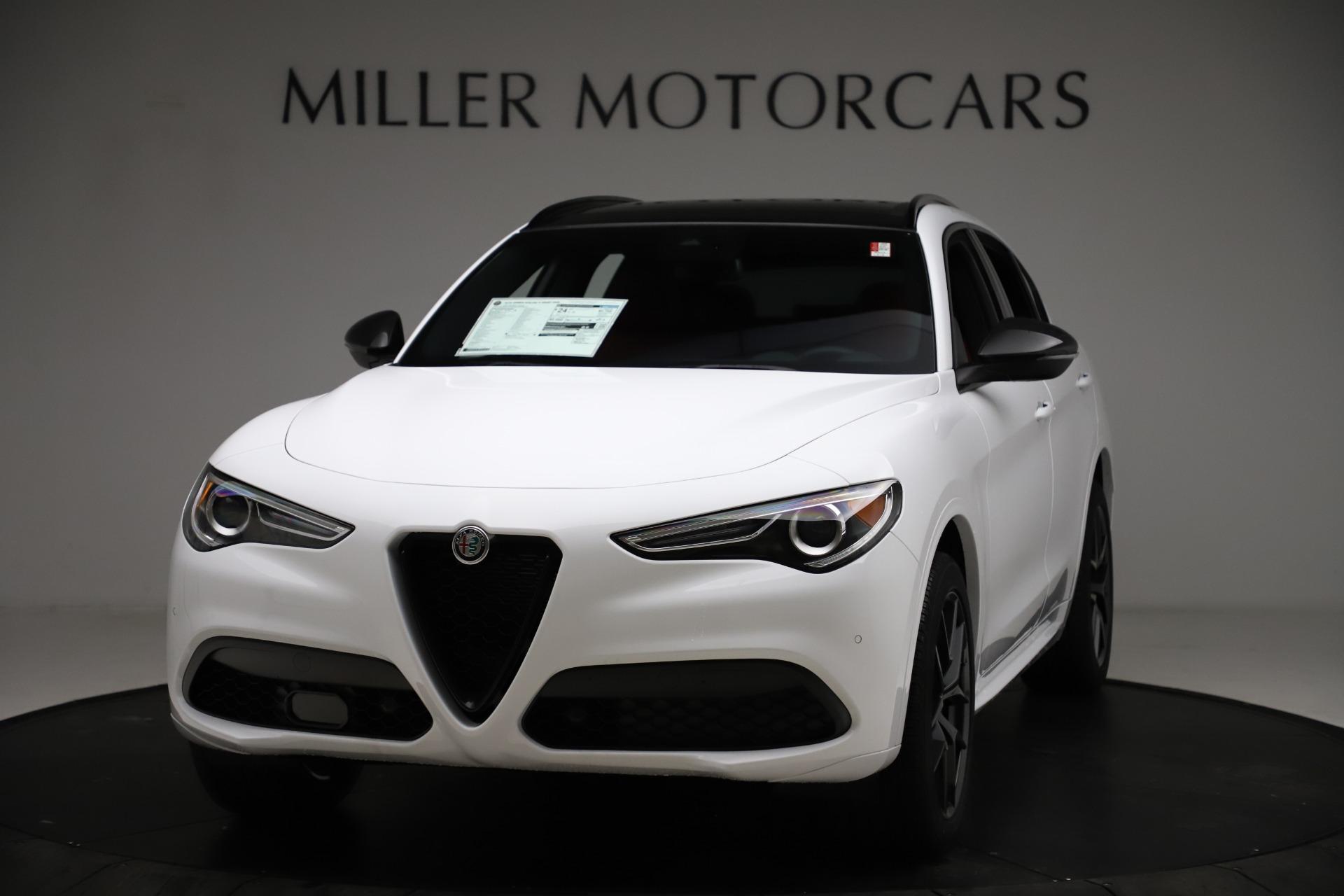 New 2021 Alfa Romeo Stelvio Ti Sport Q4 for sale $55,490 at McLaren Greenwich in Greenwich CT 06830 1