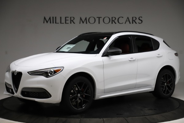 New 2021 Alfa Romeo Stelvio Ti Sport Q4 for sale $55,490 at McLaren Greenwich in Greenwich CT 06830 2