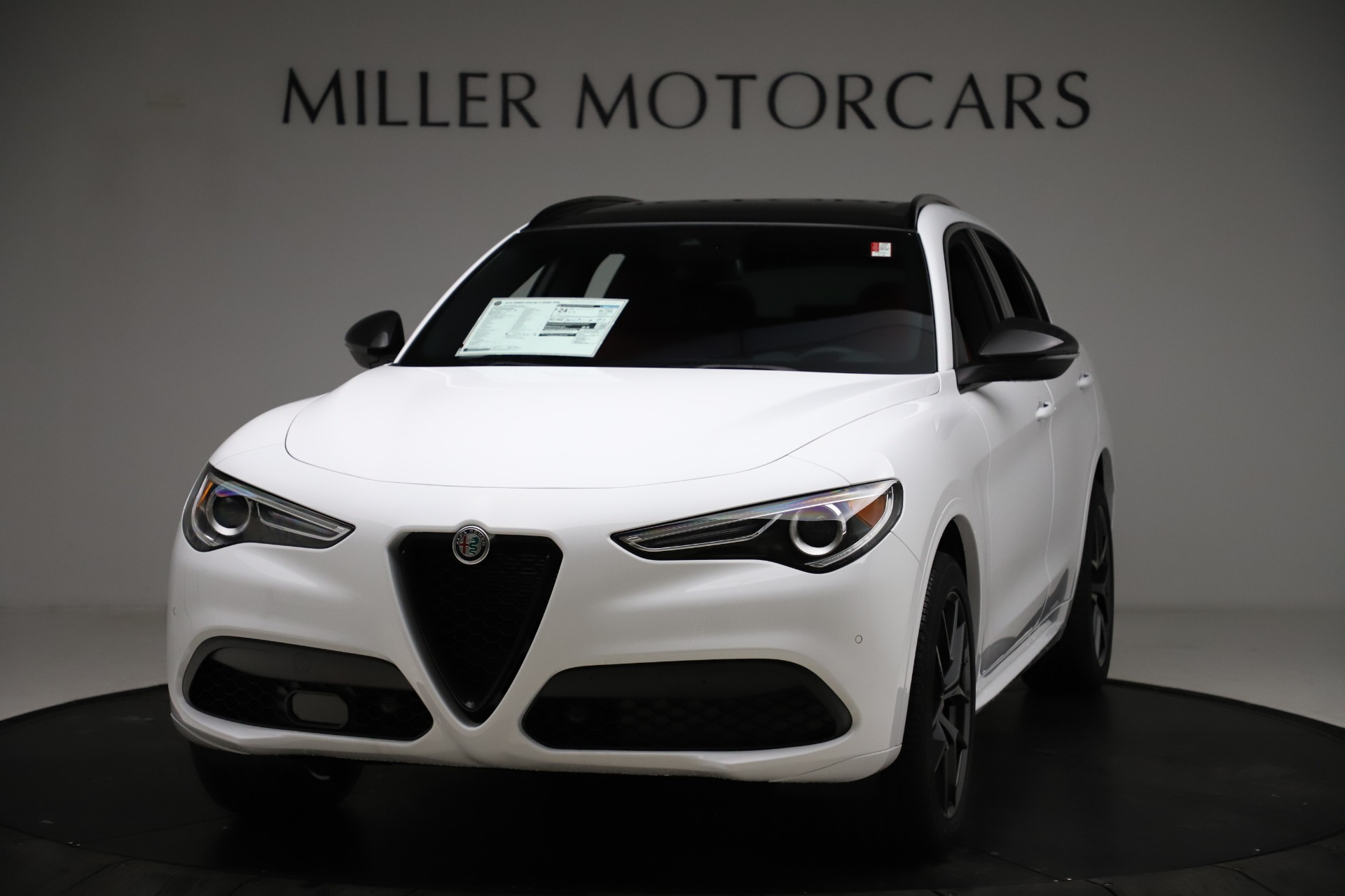 New 2021 Alfa Romeo Stelvio Ti Sport Q4 for sale $55,490 at McLaren Greenwich in Greenwich CT 06830 1