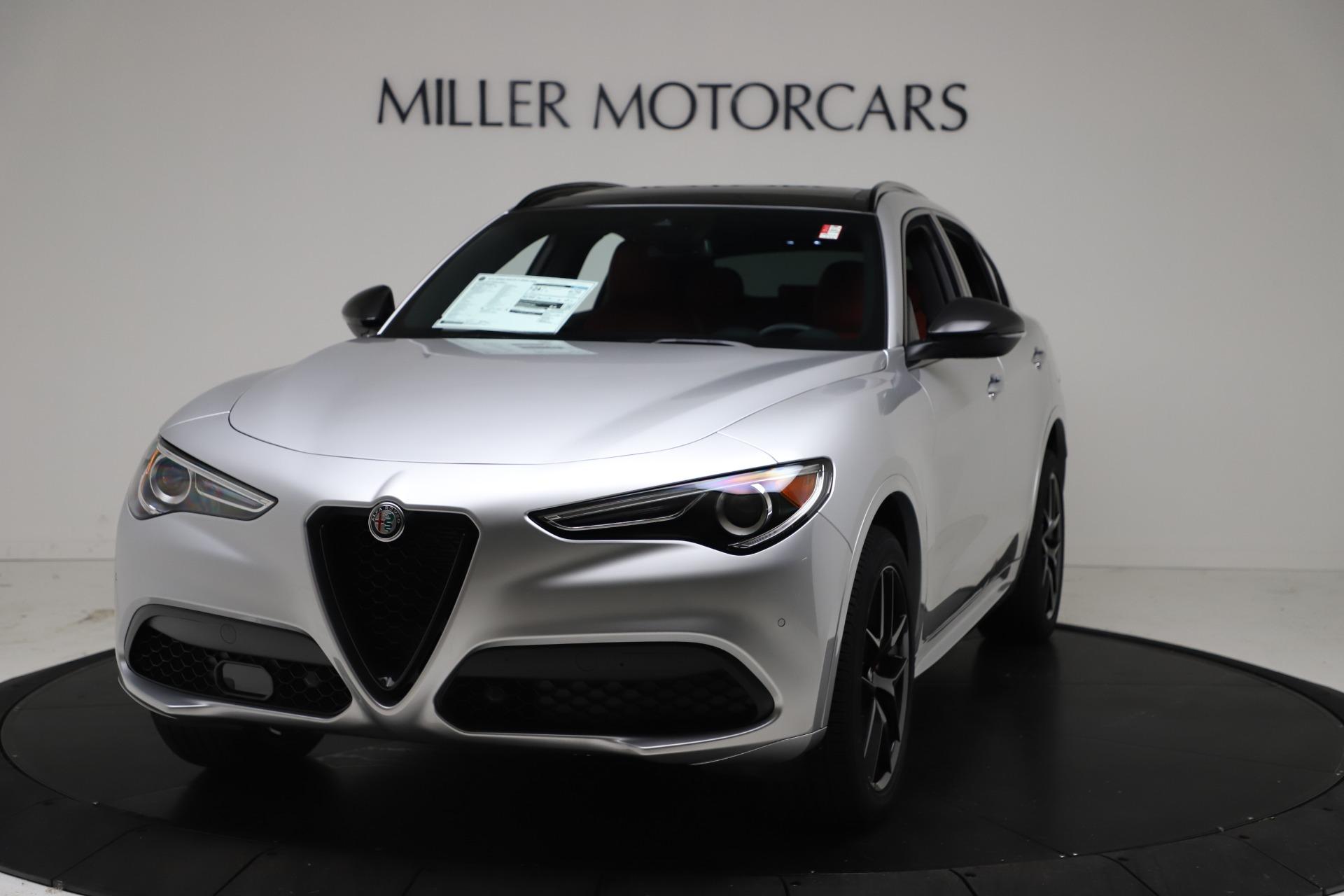 New 2021 Alfa Romeo Stelvio Ti Sport Q4 for sale $56,090 at McLaren Greenwich in Greenwich CT 06830 1