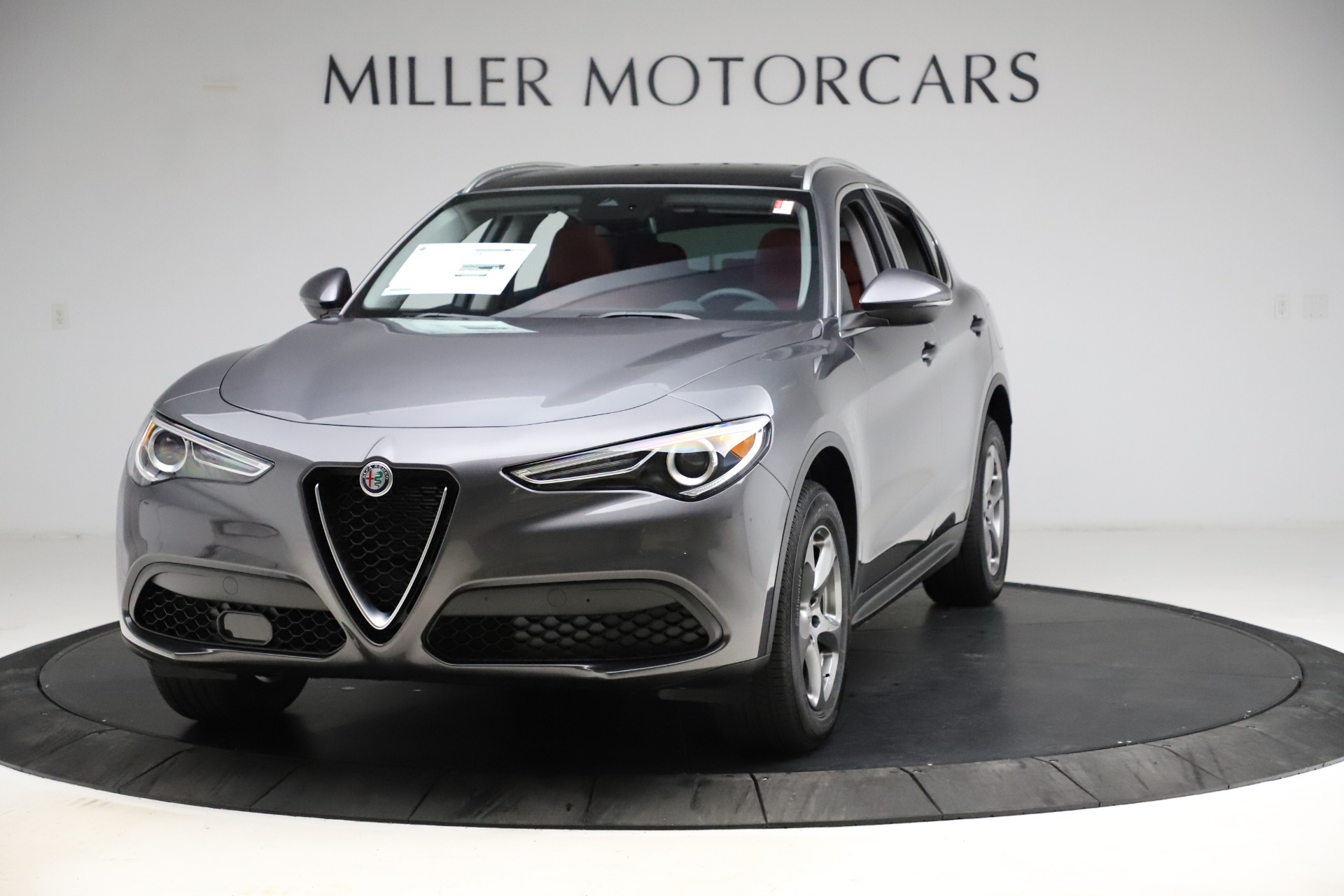 New 2021 Alfa Romeo Stelvio Q4 for sale $48,050 at McLaren Greenwich in Greenwich CT 06830 1