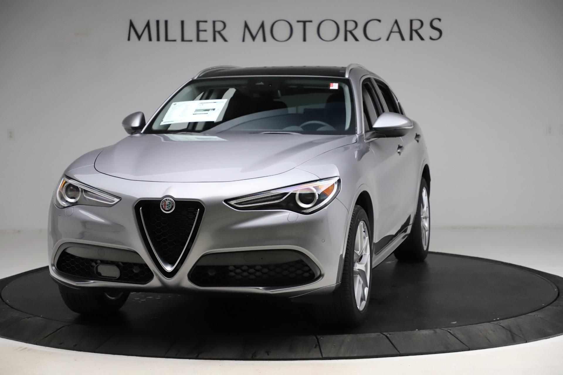 New 2021 Alfa Romeo Stelvio Ti Q4 for sale $55,900 at McLaren Greenwich in Greenwich CT 06830 1
