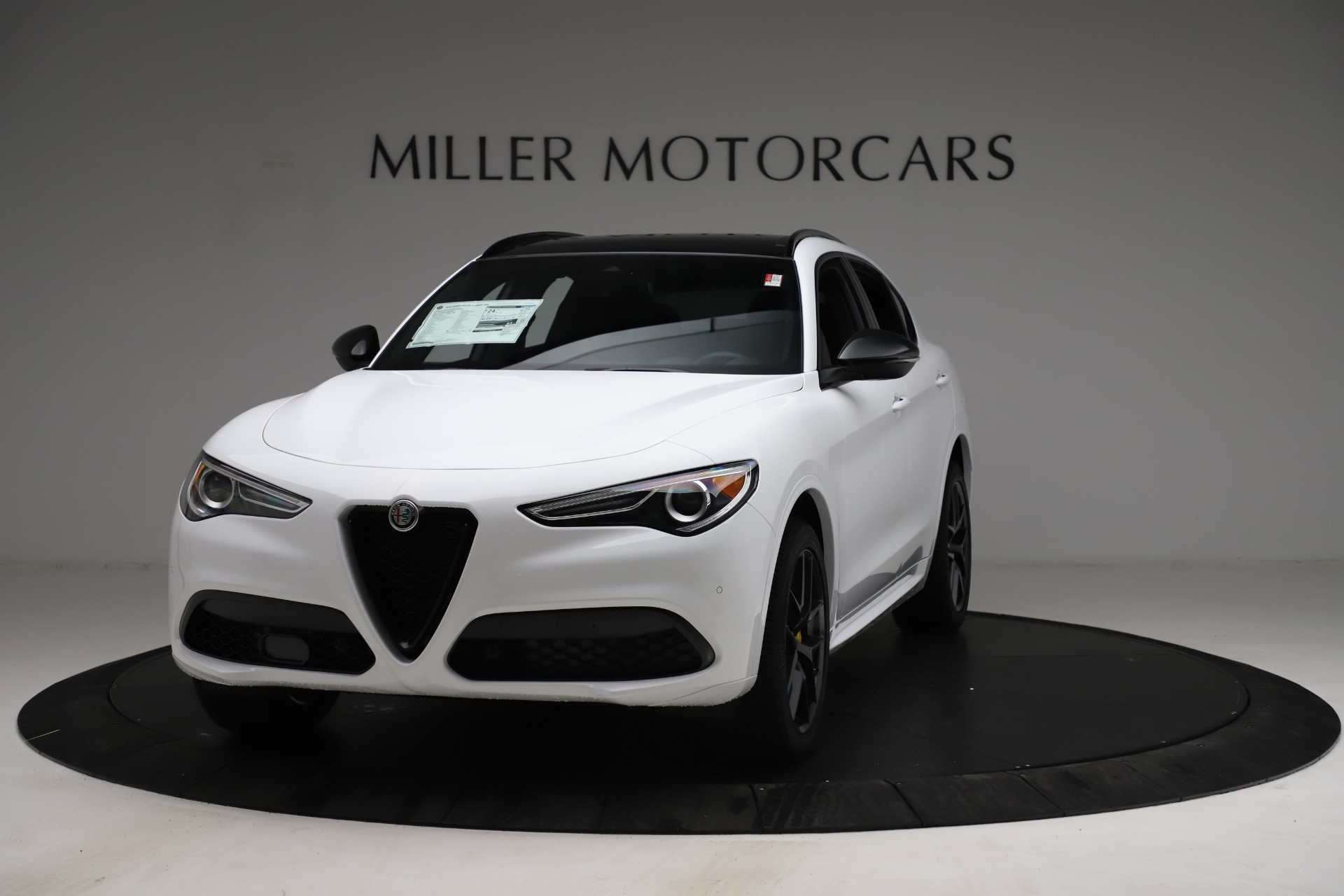 New 2021 Alfa Romeo Stelvio Ti Sport Q4 for sale $56,040 at McLaren Greenwich in Greenwich CT 06830 1