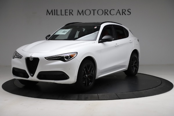 New 2021 Alfa Romeo Stelvio Ti Sport Q4 for sale $58,540 at McLaren Greenwich in Greenwich CT 06830 2