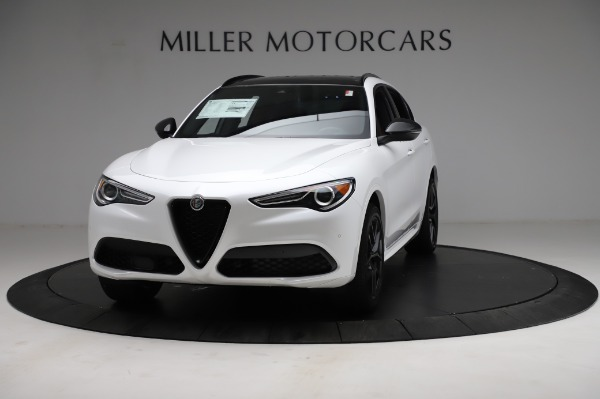 New 2021 Alfa Romeo Stelvio Ti Sport Q4 for sale $58,540 at McLaren Greenwich in Greenwich CT 06830 1