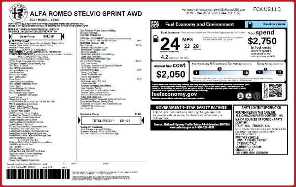 New 2021 Alfa Romeo Stelvio Q4 for sale $50,595 at McLaren Greenwich in Greenwich CT 06830 2