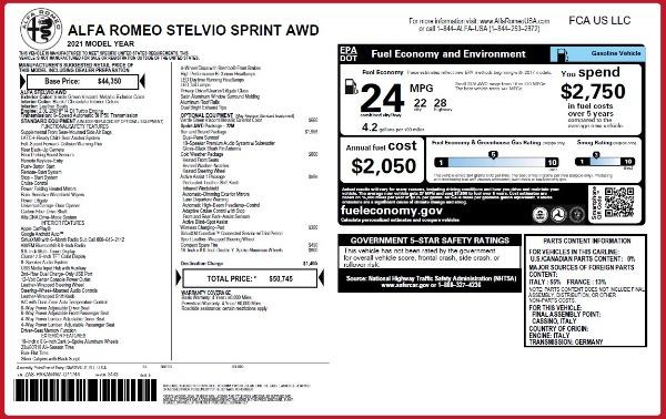New 2021 Alfa Romeo Stelvio Q4 for sale $50,145 at McLaren Greenwich in Greenwich CT 06830 2