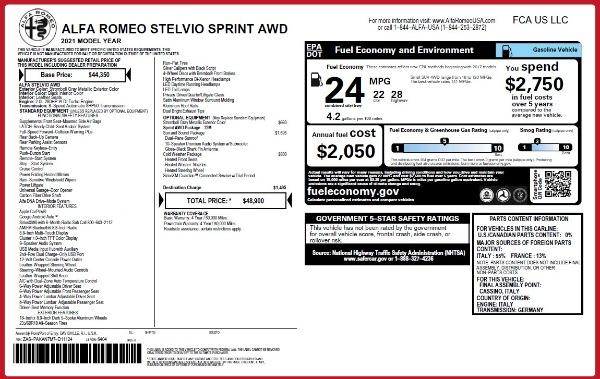 New 2021 Alfa Romeo Stelvio Q4 for sale Sold at McLaren Greenwich in Greenwich CT 06830 2