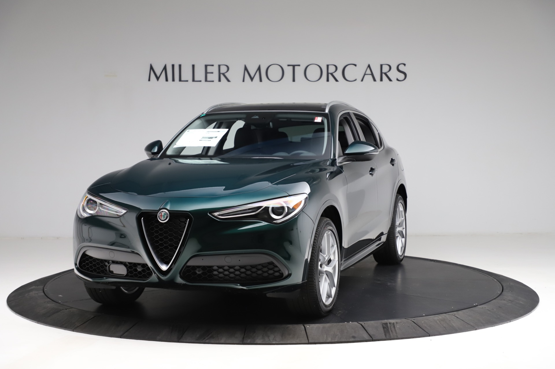 New 2021 Alfa Romeo Stelvio Ti Q4 for sale $53,500 at McLaren Greenwich in Greenwich CT 06830 1