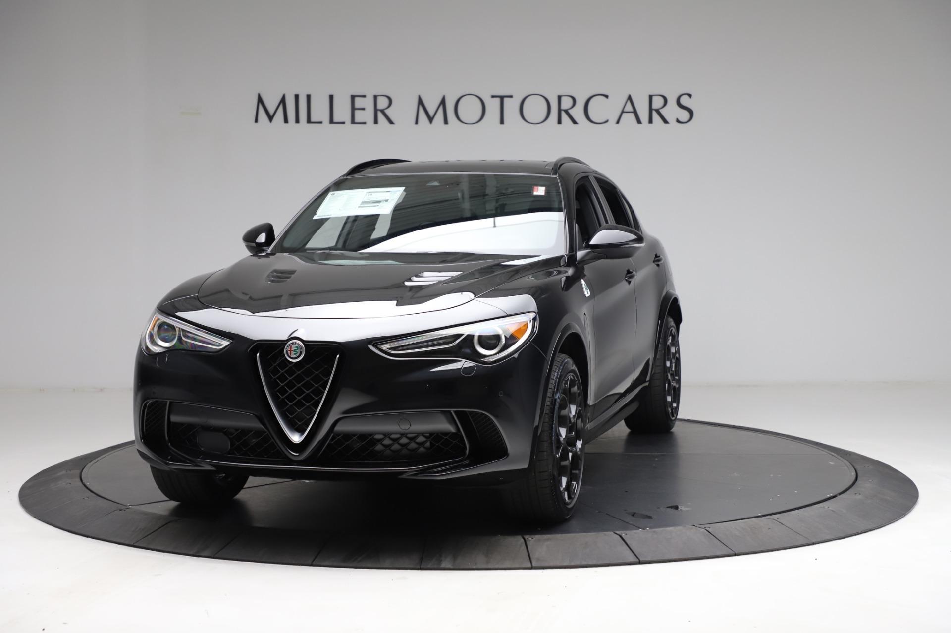 New 2021 Alfa Romeo Stelvio Quadrifoglio for sale $90,450 at McLaren Greenwich in Greenwich CT 06830 1