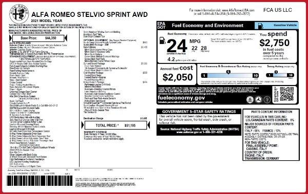 New 2021 Alfa Romeo Stelvio Q4 for sale $51,195 at McLaren Greenwich in Greenwich CT 06830 2
