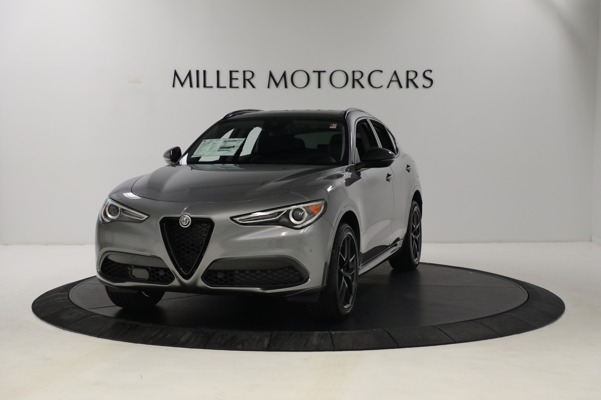 New 2021 Alfa Romeo Stelvio Ti Q4 for sale $54,400 at McLaren Greenwich in Greenwich CT 06830 1