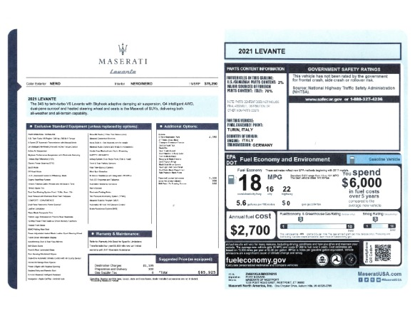 New 2021 Maserati Levante for sale Sold at McLaren Greenwich in Greenwich CT 06830 2