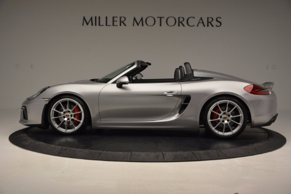 Used 2016 Porsche Boxster Spyder for sale Sold at McLaren Greenwich in Greenwich CT 06830 3