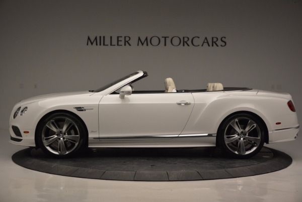 New 2017 Bentley Continental GT Speed Convertible for sale Sold at McLaren Greenwich in Greenwich CT 06830 3